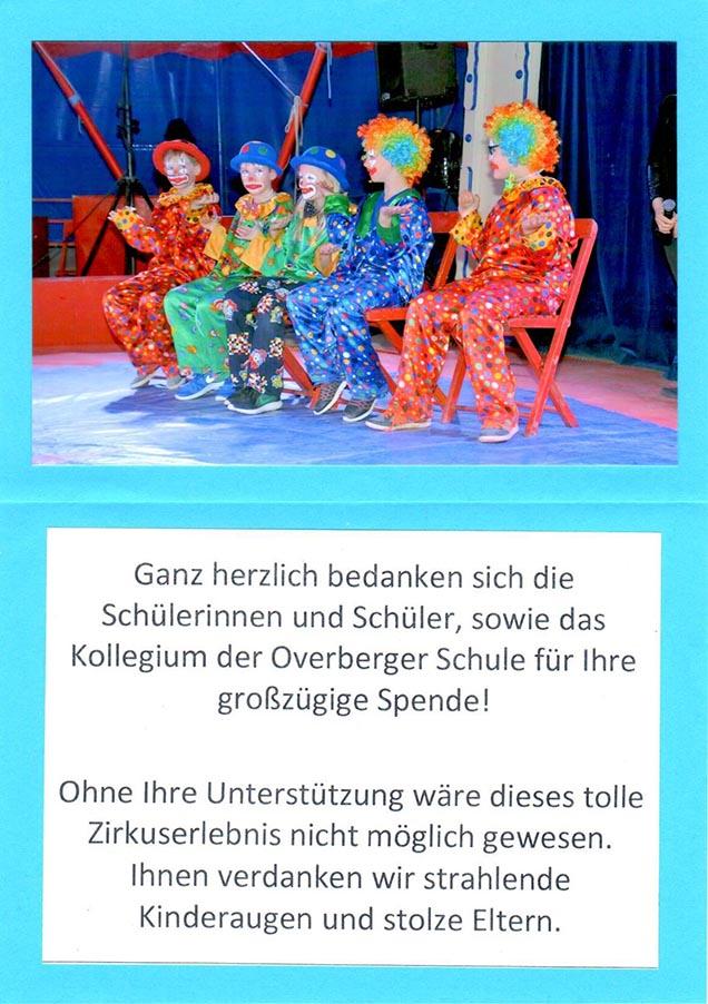 Overberger Grundschule – Spende